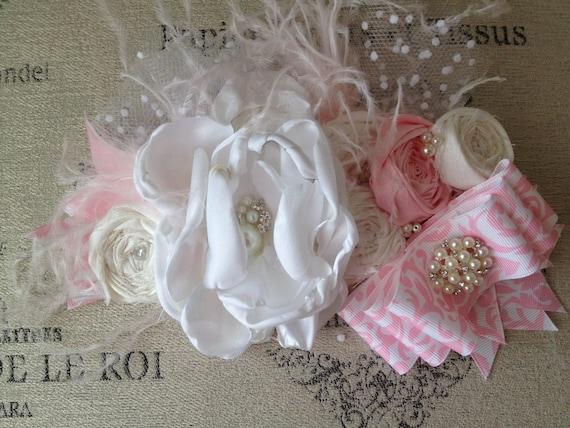Pink Champagne bow headband