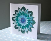 ECHOES IN A SHALLOW BAY recycled 3D flower greetings card