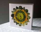 SMILE handmade recycled greetings card