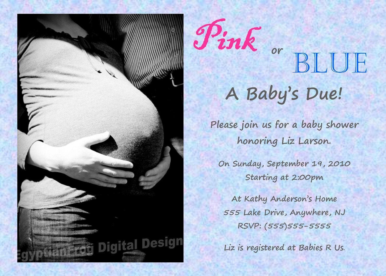 Baby Shower Invitation Gender Neutral 5x7 Digital File