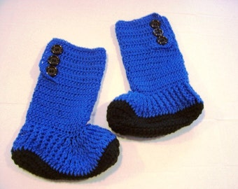 Hand Crochet Hightop Slipper Boots for Teens and Adults by Kams-store.com