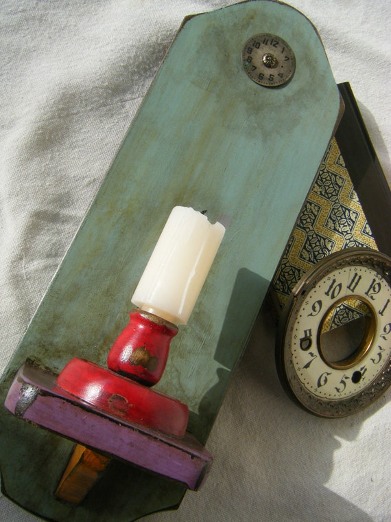 Country Cottage Wall Candle Holder