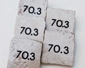 70 pt 3 Mile Half Ironman Square Tile Magnet