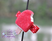 Cherry Red Ice Cream Boutique Hair Clip