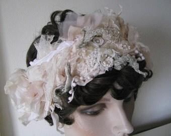 Goddess Bridal Cream White Silk Floral Headband