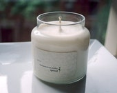 Rain Water Soy Candle - 16 Ounce Apothecary Jar
