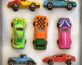 The Collection Number XVI - Photography Photo - Retro Nostalgic Toy Cars Matchbox - Children Kids Nursery Boys Room Decor - Toys
