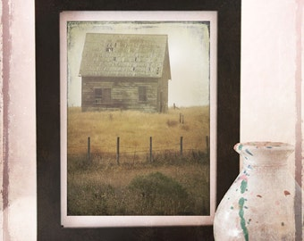 Weathered   - A Signed Fine Art Photograph  - Rustic Country Barn - Homage To Andrew Wyeth