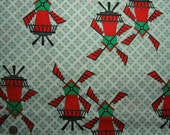 1950s Vintage Cotton Fabric - Windmills