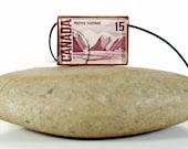VIntage Canadian Stamp Pendant - Vintage Iceburg Stamp Pendant - Vintage Group of Seven Pendant