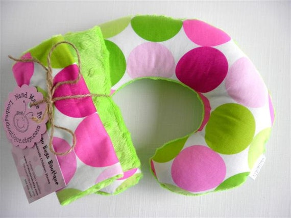 Sorbet Baby Toddler Childrens Neck Travel Pillow with Matching Car Seat Strap Covers
