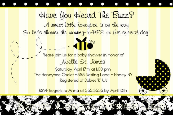 Mommy-to-BEE Bumble bee Themed Baby Shower or by KiyomiDesigns