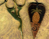 Pineapple Monogram Scissor Fob