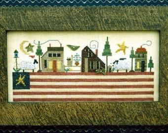 Patriotic Landscape~Cross Stitch Pattern