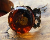Steampunk Ring, Red