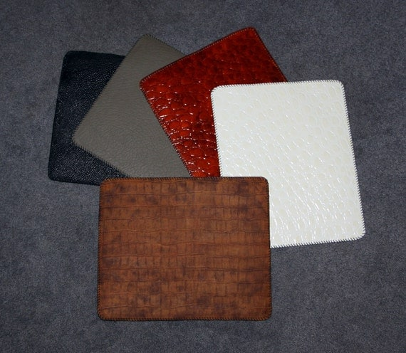 Exotic Animals - Real Leather Custom Mouse Pads