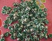 Aluminum roses light aqua green 6 mm  50 pcs