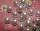 White flatback pearls  18 mm   10 pcs---USA seller