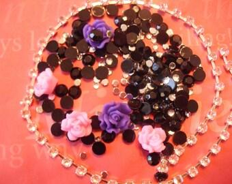 Kawaii DIY decoden cabochon rhinestone embellishment  250 pcs---USA seller