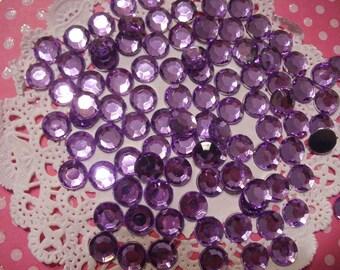 Purple rhinestones decoden deco diy 8 mm more than  50 pcs--- seller