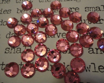 Light pink round acrylic rhinestones  decoden deco diy 10 mm   20 pcs---USA seller