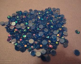 Deep ocean blue acrylic rhinestone decoden deco diy     4 mm  more than 100 pcs--USA seller