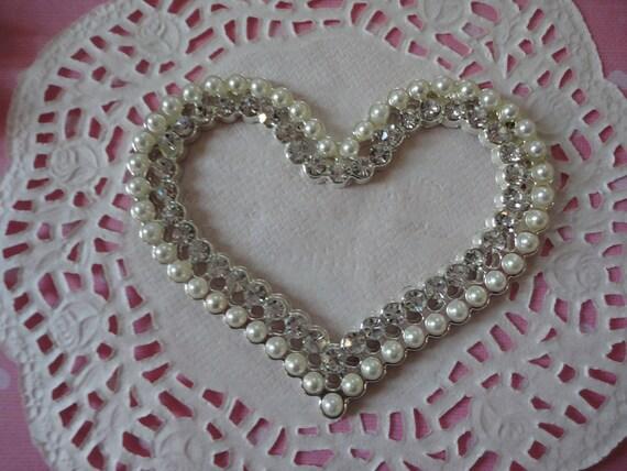 Kawaii big alloy sparkling heart decoden deco diy charm--USA seller