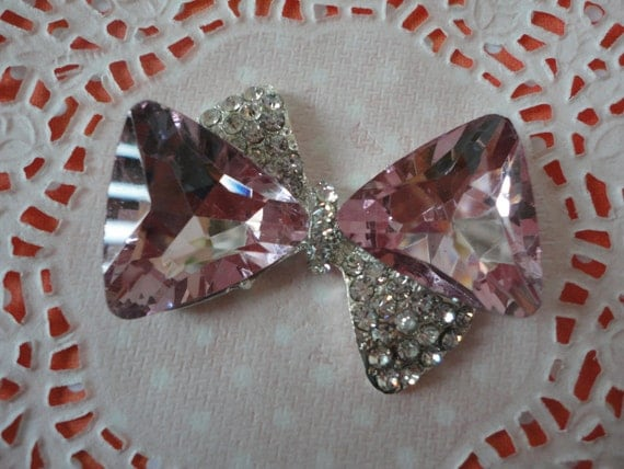 Beautiful sparkling metal butterfly with rhinestone charm