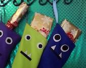 Handmade Fleece Monster Stockings