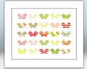 Patterned Butterflies - Custom Printable Digital Art