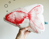 NEW Red Carp screen printed Mini pillow/ plush toy