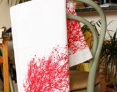 Red tree cotton tea towel