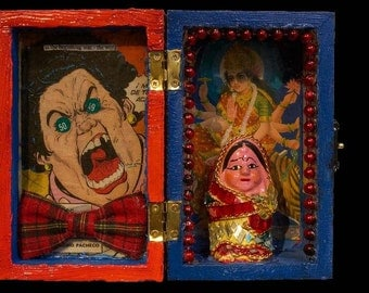 The Angry Bow tie lady and the Hindu Shrine