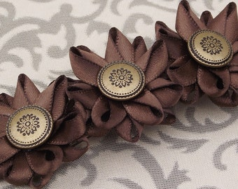 Flower Hair Clip Barrette, Adult Hair Clip, Adult Hair Bow, Womens Hair Clip, Ponytail Clip for Women, Ponytail Barrette, Hair Accessories
