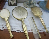 Vintage Brass Vanity Set