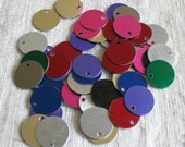 Anodized Aluminum Stamping Blanks / Aluminum Disks / Aluminum Circles / Chainmaille Supplies / 17mm round blanks - 50