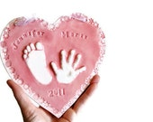 Kids and Baby's Hand and Footprint Gift -  Keepsake Of Your Child - Gift for Mom and Dad - Gift For Baby - Gift for Her - Gift For Mother