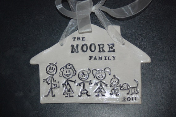 Personalized ornament  of family, children