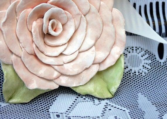 Shabby Chic, Ceramic, Pink Rose