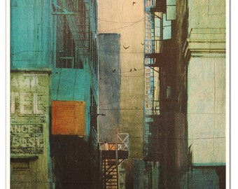 "ESCAPE ROUTE - Fine art print - 16 x 20"" - Signed by the artist"
