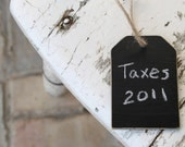The Classic Chalkboard Tags in Distressed Black