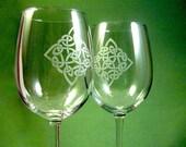 2 verres de vin - diamant celtique