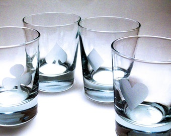 Poker Game Set - Old Fashioned Glasses GREAT GIFT