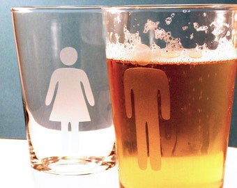 Man/Woman Highball Glass set
