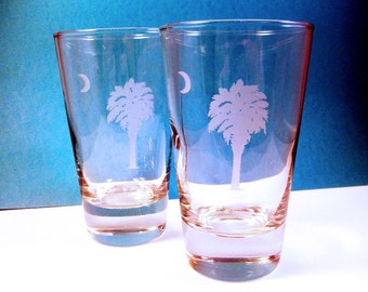 1  Pint Glass - SC Palmetto Tree