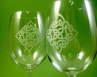 4 Wine Glasses - Celtic Diamond