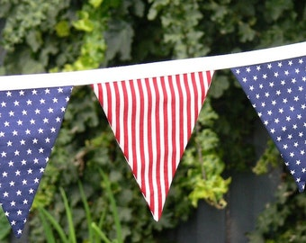 Fabric Bunting Flags Banner  Stars and Stripes