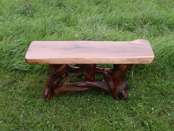 Items Similar To Rustic Wood Coffee Table Log Red Pine Root Base On Etsy