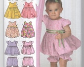 Four Styles of Toddler Girl's Outfit Patterns from Simplicity for Sizes XXS through L