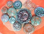 Various Patinaed Polymer Cabochons
